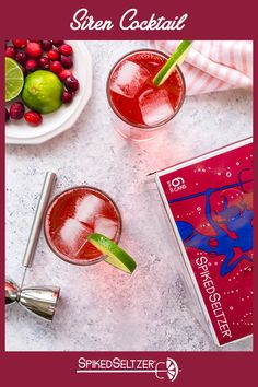 SpikedSeltzer makes the perfect addition to your summer cocktail. To make our Siren, combine 6 oz SpikedSeltzer Cape Cod Cranberry, 1 oz Vodka, and 2 oz cranberry juice. Serve over ice; garnish with frozen cranberries (optional). Healthy Juices, Healthy Snacks, Healthy Sweets, Top Of Cabinet Decor, Spiked Seltzer, Poland Food, Clean Dinner Recipes, Cranberry Juice, Margaritas