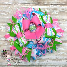#Easter #Eastereggs Over the Top Hair Bow Up for Auction 2/26/14' at www.facebook.com/missbsbowtique05 Etsy Shop: www.etsy.com/shop/missbsbowtique05