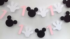 Minnie Mickey Mouse paper banner bunting first birthday pink girls baby Minnie Mouse Balloons, Mickey Minnie Mouse, First Birthday Parties, First Birthdays, Personalized Birthday Banners, Paper Banners, Mickey Mouse Clubhouse, Party Poster, Flag Decor