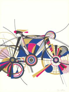 These graphic cycling posters by Anne Ulku are rather beautiful - Digital Arts Bicycle Art, Bicycle Design, Bike Illustration, Bike Poster, Cycling Art, Cycling Quotes, Cycling Jerseys, Cycling Tattoo, Communication Art
