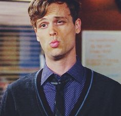 Matthew Gray Gubler ❤️❤️ as Spencer Reid ❤️❤️ I know you'er saying a word and not puckering, but bring those lips over here mister, they're mine!!