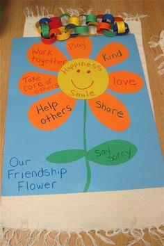 25 best ideas about preschool friendship activities on Friendship Crafts, Friendship Flowers, Friendship Theme Preschool, Friendship Lessons, Preschool Family Theme, Happy Friendship, Preschool Lessons, Preschool Art, Flower Craft Preschool