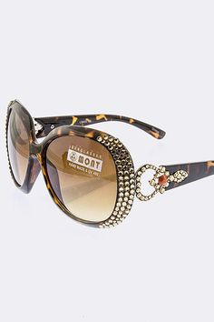 Anais Gvani Round Oblong Sunglasses