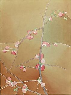Mark Adams  Flowering Quince, 1988  Watercolor, graphite on paper