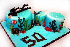 Diver's 50th - Cake by Danielle Lainton