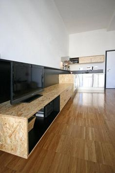 You certainly come across it regularly, the OSB has become a big trend in terms of interior design and decoration. Smart Furniture, Ikea Furniture, Plywood Furniture, Pallet Furniture, Rustic Furniture, Furniture Making, Furniture Makeover, Furniture Design, Particle Board Furniture