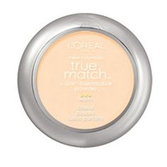 True Match Powder foundation face makeup by L'Oreal Paris. Oil-free powder foundation controls shine & contains a hint of pearl pigments that promote even skin tone.