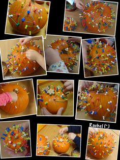 Pumpkin Geoboards from Stimulating Learning with Rachel