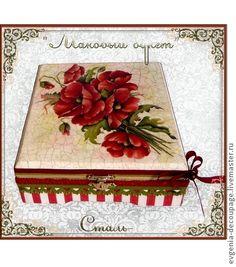 """Шкатулка """"Маковый букет"""" - шкатулка,подарок женщине,подарок девушке,подарок на день рождения"""