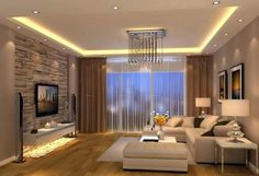 Beautiful Modern Living Room Designs Ideas, Do you want the room to truly feel elated or are you searching for a place of serenity. When you think about improving you living room to eliminate th. House Ceiling Design, Ceiling Design Living Room, Living Room Designs, Living Room Modern, Home Living Room, Living Room Decor, Small Living, Living Room Light Fixtures, Living Room Lighting