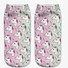 Cartoonicorn Ankle Socks