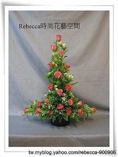 台北西洋花藝設計教學作品--逆T花型--傳統手法 @ Rebecca時尚花藝空間 -- 德國B.W.S.花藝學院 :: 隨意窩 Xuite日誌