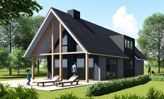 Small House Design, Cottage Design, Style At Home, Home Architecture Styles, Modern Barn House, Build Your Own House, Tiny House Cabin, Beautiful Buildings, Bungalows