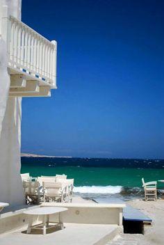 Balcony somewhere in the Aegean, Greece