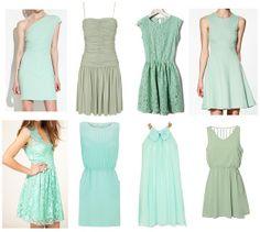 Vestidos verde agua para el verano