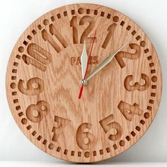 Wall clock -Paris-clock, salvaged oak by DesignAtelierArticle