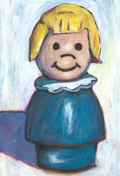 Fisher Price Little People Girl. 5x7 Print. Ships Free.