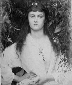 Julia Margaret Cameron     Alice Liddell as Pomona       1872. I saw this at The Met, and I am absolutely in love with it!