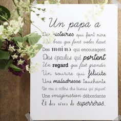 Image of Affiche Exclusive Un Papa Citations Souvenirs, When I Dream, Jolie Phrase, Color Psychology, Fathers Day Crafts, Positive Attitude, Love Gifts, My Baby Girl, Affirmations