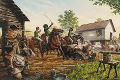 Battle of Charlotte NC 1780. The British Legion run into fierce resistance by Dan Nance