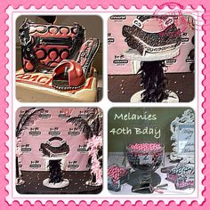 Coach Themed Candy Buffet, Centerpiece, and Cake Chocolate Centerpieces, Candy Buffet, Birthday Party Themes, Lunch Box, Cake, Crafts, Manualidades, Kuchen, Candy Stations