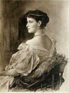 adini-nikolaevna:  Grand Duchess Elizaveta Feodorovna (Princess Elisabeth of Hesse-Darmstadt), wife of Grand Duke Sergei Alexandrovich of Russia, by Friedrich August von Kaulbach..