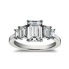 Come see what engagement ring is best for you based on your astrological sign (this emerald-cut diamond is just right for Aries)