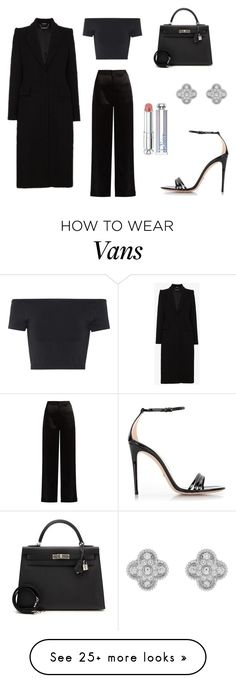 """""""Untitled #530"""" by cxndai on Polyvore featuring Lanvin, Hermès, Gucci, Helmut Lang, Christian Dior, Van Cleef & Arpels and Alexander McQueen"""