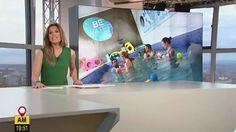 """#REPORTAJE A BEWATER EN EL PROGRAMA """"AQUÍ EN MADRID"""" DE TELEMADRID En BeWater los #bebés aprenden a nadar en #agua salada a 32 grados. #Beneficios de la #Matronatación.  Precioso reportaje sobre #BeWater en #Telemadrid."""
