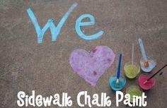 *Random Thoughts of a SUPERMOM!*: Sidewalk Chalk Paint!
