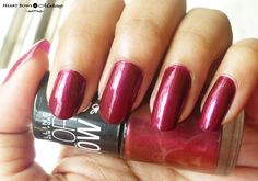 Maybelline Bright Sparks Nail Polish Glowing Wine Swatches, NOTD & Review