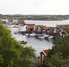 Hunnebostrand, Bohuslän, Sweden, would love to visit. Scandinavian Countries, Scandinavian Home, Dock House, Kingdom Of Denmark, About Sweden, Red Cottage, Summer Dream, World Of Color, Continents