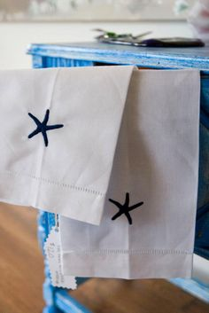 Starfish Hand Towels made on Cape Cod.