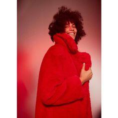 MANGO Lapels faux fur coat ($200) ❤ liked on Polyvore featuring outerwear, coats, fake fur lined coats, imitation fur coats, fur-lined coats, mango coats and lapel coat