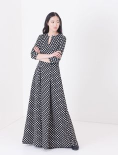 Maxi Corolla Dress jacquard grafico