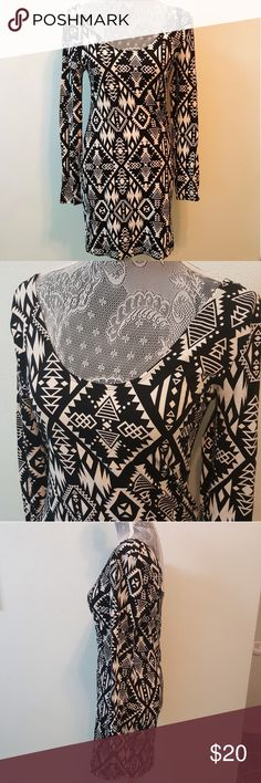 """PINK VS long sleeve aztec bodycon dress PINK VS long sleeve aztec bodycon dress, EUC   Measurements are approximate 34"""" top to bottom hem  33"""" bust (up to 36"""" with gentle stretching) PINK Victoria's Secret Dresses Mini"""