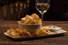 Crispy Chips & Dip - Kettle-Cooked Chips, Caramelized Onion Bacon Dip chwinery.com
