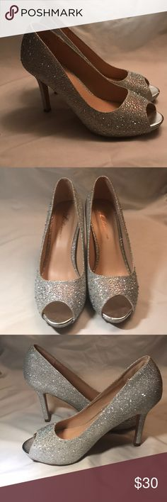 """3""""  L Lorraine heels Bought these for my homecoming dance my junior year. Wore them once, they're is good condition with only some scuffing on the bottom. Shoes Heels"""