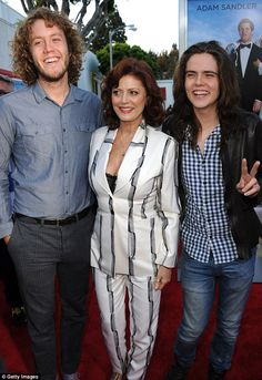 Susan Sarandon with sons Jack and Miles whose father is her ex partner Tim Robbins She also has a daughter Eva from another relationship