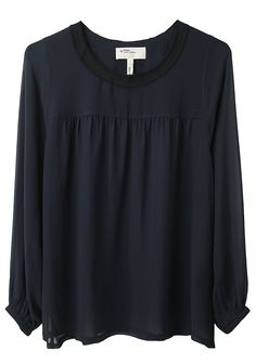 Jyron Blouse by Étoile Isabel Marant.  Airy, sheer chiffon blouse with gathered front & back yoke & raw edge detail. $430.00