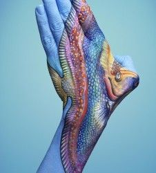 Fish - not a tattoo; body art