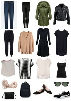 Capsule Wardrobe: One week of clothing in a carryon suitcase. Perfect for visiting Europe,. metropolitan cities, Toronto, Copenhagen, etc. #capsulewardrobe #travelfashion #packingadvice