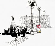 Urban Sketchers Switzerland: Andiamo a Milano !