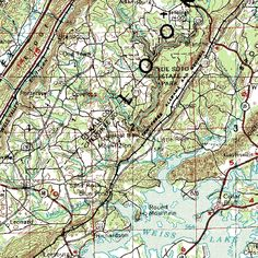 Little River Canyon, AL   MyTopo | Custom Topo Maps, Aerial Photos, Online Maps, and Map Software