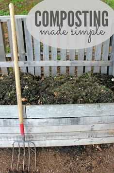 Composting Made Simple: Just the basics on the easiest way to turn your food scraps  yard debris into awesome soil!