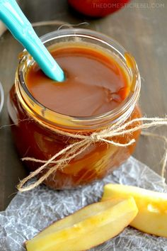 This Homemade Quick & Easy Salted Caramel Sauce is to die for! Rich, creamy, sweet and buttery, it comes together in minutes and is totally foolproof!