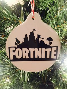 Excited to share this item from my #etsy shop: Personalized 2 sided Fortnite Chritmas Ornament