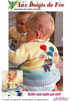 Explication du Modèle veste layette avec motifs- PDF Baby Knitting Patterns, Pulls, Motifs, Face, Picasa, Templates Free, Reborn Babies, Knitting And Crocheting, The Face