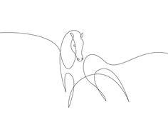 one line tattoo Kunst Kunst Animal Line Drawings, Horse Drawings, Art Drawings, One Line Animals, One Line Tattoo, Single Line Drawing, Wire Art, Tattoo Studio, Tatoos