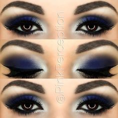 blue smokey eye - Make Up 2019 Blue Makeup Looks, Blue Eye Makeup, Eye Makeup Tips, Smokey Eye Makeup, Makeup Inspo, Makeup Inspiration, Makeup Ideas, Makeup Tutorials, Makeup Eyeshadow